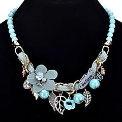 preiswerte Halsketten-Damen Statement Ketten  -  Blume Böhmische, Süß, Boho Grau, Rosa, Hellblau Modische Halsketten Für Party