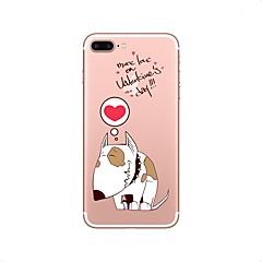Недорогие Кейсы для iPhone 4s / 4-Кейс для Назначение Apple iPhone X iPhone 8 Прозрачный С узором Кейс на заднюю панель Мультипликация Мягкий ТПУ для iPhone X iPhone 8