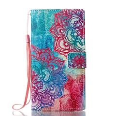 Недорогие Чехлы и кейсы для Sony-Кейс для Назначение Sony Бумажник для карт Кошелек со стендом Флип Магнитный С узором Чехол Цветы Твердый Кожа PU для Sony Xperia L1 Sony