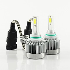 Недорогие Автомобильные фары-2pcs 9003 / H8 / 9006 Автомобиль Лампы 30W COB 3000lm 2 Налобный фонарь For Универсальный Все модели Все года