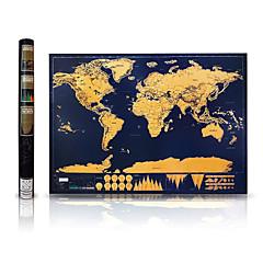 お買い得  子供のパズル-スクラッチマップ 地図 カード用紙 ペーパー エレガント・豪華 14歳以上