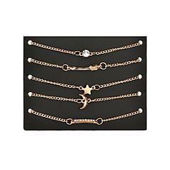 Naisten Amuletti-rannekorut Strassi Friendship Personoitu Metalliseos Heart Shape kuu Korut Käyttötarkoitus Päivittäin Kausaliteetti
