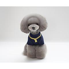 billige Kat Tøj-Kat Hund T-shirt Hundetøj Bogstav & Nummer Grå Rød Blå Bomuld Kostume For kæledyr Fest Afslappet/Hverdag Nytår
