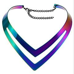 preiswerte Halsketten-Damen Geometrisch Halsketten - Punk Regenbogen Modische Halsketten Schmuck Für Alltag, Normal