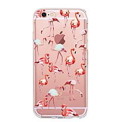 для крышки корпуса ультратонкий прозрачный узор задняя крышка чехол фламинго мягкий tpu для яблока iphone x iphone 8 plus iphone 8 iphone