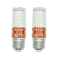 billige LED-lyspærer-BRELONG® 2pcs 12W 1000 lm E27 LED-kornpærer T 60 leds SMD 2835 Varm hvit Hvit Dual Light Source Color AC 220-240V