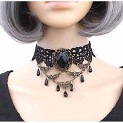 preiswerte Halsketten-Damen Kubikzirkonia Halsketten - Zirkon, Spitze Personalisiert, Klassisch Schwarz Modische Halsketten Für Party, Bühne