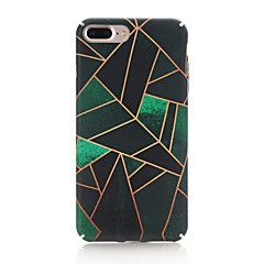 Capinha Para Apple iPhone X iPhone 8 Áspero Estampada Capa Traseira Estampa Geométrica Rígida PC para iPhone X iPhone 8 Plus iPhone 8