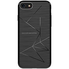 Недорогие Кейсы для iPhone X-Кейс для Назначение Apple iPhone X iPhone X iPhone 8 Защита от удара Матовое Кейс на заднюю панель Полосы / волосы Мягкий ТПУ для iPhone