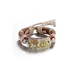 preiswerte Armbänder-Herrn / Damen Lederarmbänder - Blume Punk Armbänder Kaffee Für Alltag / Normal / Bühne