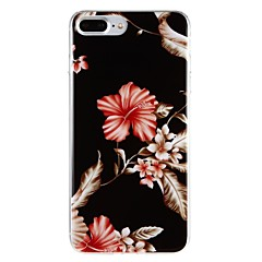 Кейс для Назначение Apple iPhone 7 iPhone 7 Plus IMD С узором Задняя крышка Цветы Твердый PC для iPhone 7 Plus iPhone 7 iPhone 6s Plus