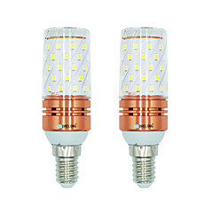 billige LED-lyspærer-BRELONG® 2pcs 12W 1000 lm E14 LED-kornpærer T 60 leds SMD 2835 Varm hvit Hvit Dual Light Source Color AC 220-240V
