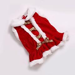 Kat Hond Jassen Jurken Hondenkleding Feest Cosplay Casual/Dagelijks Houd Warm Bruiloft Sport Kerstmis Nieuwjaar Effen Rood