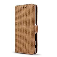 Кейс для Назначение Sony Кошелек Бумажник для карт со стендом Флип Чехол Сплошной цвет Твердый Искусственная кожа для Sony Xperia XZ Sony