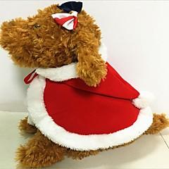 Gato Perro Disfraces Ropa para Perro Fiesta Cosplay Mantiene abrigado Halloween Navidad Sólido Rojo