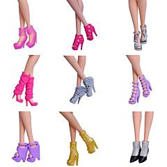Prenses Ayakkabılar İçin Barbie Bebek Ayakkabılar İçin Kız Oyuncak bebek