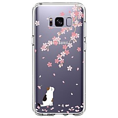 Etui Til Samsung Galaxy S8 Plus S8 Ultratyndt Transparent Mønster Bagcover Kat Blomst Blødt TPU for S8 S8 Plus S7 edge S7 S6 edge plus S6