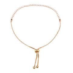 preiswerte Armbänder-Damen Kubikzirkonia Tennis Kette Tennis Armbänder - Zirkon Klassisch, Bling Bling Armbänder Gold / Silber Für Hochzeit Party