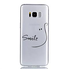 Χαμηλού Κόστους Galaxy S6 Θήκες / Καλύμματα-tok Για Samsung Galaxy S8 Plus S8 Διαφανής Με σχέδια Πίσω Κάλυμμα Λέξη / Φράση Μαλακή TPU για S8 Plus S8 S7 edge S7 S6