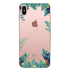 billige iPhone-etuier-Etui Til Apple iPhone X iPhone 8 iPhone 8 Plus Transparent Mønster Bagcover Træ Blødt TPU for iPhone X iPhone 8 Plus iPhone 8 iPhone 7