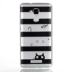 お買い得  その他のケース-ケース 用途 Asus パターン バックカバー ライン/ウェイブ ソフト TPU のために Asus Zenfone 3 Max ZC520TL