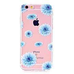 Недорогие Кейсы для iPhone 4s / 4-Кейс для Назначение Apple iPhone X / iPhone 8 / iPhone 8 Plus Ультратонкий / Прозрачный / С узором Кейс на заднюю панель Цветы Мягкий ТПУ для iPhone X / iPhone 8 Pluss / iPhone 8