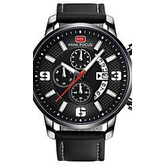 お買い得  大特価腕時計-男性用 リストウォッチ 日本産 カジュアルウォッチ レザー バンド チャーム ブラック / グレー / ステンレス