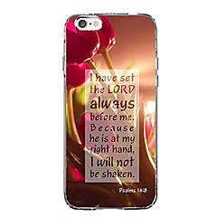 Кейс для Назначение Apple iPhone X iPhone 8 iPhone 8 Plus Ультратонкий С узором Задняя крышка Слова / выражения Пейзаж Мягкий TPU для