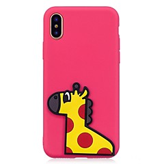 Назначение iPhone X iPhone 8 Чехлы панели С узором Своими руками Задняя крышка Кейс для Животное 3D в мультяшном стиле Мягкий Термопластик