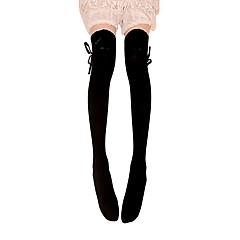 Çoraplar Klasik/Geleneksel Lolita Bağcık Siyah Lolita Aksesuarları Uzun Çorap Fiyonk Düğüm İçin Pamuk
