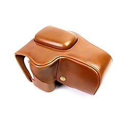 お買い得  ケース、バッグ & ストラップ-キャノンオオス200d 18-55ミリメートルレンズ(盛り合わせ色)のためのdengpin puの革のカメラケースの袋のカバー