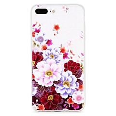 Недорогие Кейсы для iPhone 6 Plus-Кейс для Назначение Apple iPhone 7 / iPhone 7 Plus Рельефный / С узором Кейс на заднюю панель Цветы Мягкий ТПУ для iPhone 7 Plus / iPhone 7 / iPhone 6s Plus
