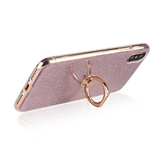 Etui Til Apple iPhone X iPhone 8 iPhone 8 Plus Ringholder Bagcover Glitterskin Blødt TPU for iPhone X iPhone 8 Plus iPhone 8 iPhone 7