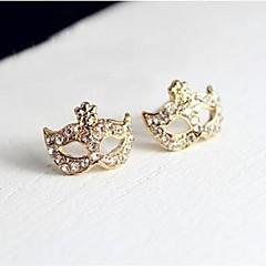 halpa Korvakorut-Naisten Niittikorvakorut Synteettinen timantti Klassinen Ihana Tekojalokivi Metalliseos Geometric Shape Korut Kulta Päivittäin Näyttämö