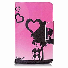 Heart Pattern Card Holder Wallet with Stand Flip Magnetic PU Leather Case for Samsung Galaxy Tab E 8.0 T377 T377V 8.0 inch Tablet PC