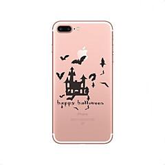 Недорогие Кейсы для iPhone-Кейс для Назначение Apple iPhone X iPhone 8 Ультратонкий Прозрачный Кейс на заднюю панель Halloween Мягкий ТПУ для iPhone X iPhone 8