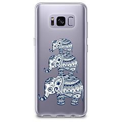 olcso Galaxy S4 Mini tokok-Case Kompatibilitás Samsung Galaxy S8 Plus S8 Átlátszó Minta Fekete tok Elefánt Puha TPU mert S8 Plus S8 S7 edge S7 S6 edge plus S6 edge