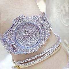 preiswerte Damenuhren-Damen Modeuhr Einzigartige kreative Uhr Pavé-Uhr Japanisch Quartz 30 m Armbanduhren für den Alltag Edelstahl Band Analog Charme Silber / Gold - Gold Silber Gold / Silber