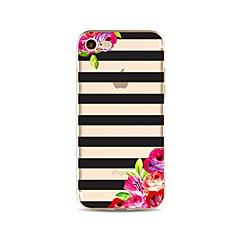 Недорогие Кейсы для iPhone 4s / 4-Кейс для Назначение Apple iPhone X / iPhone 8 Прозрачный / С узором Кейс на заднюю панель Полосы / волосы / Цветы Мягкий ТПУ для iPhone X / iPhone 8 Pluss / iPhone 8