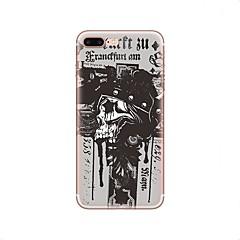 Недорогие Кейсы для iPhone 4s / 4-Кейс для Назначение Apple iPhone X iPhone 8 iPhone 8 Plus С узором Задняя крышка Черепа Halloween Мягкий TPU для iPhone X iPhone 8 Plus