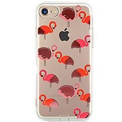 Funda Para iPhone X iPhone 8 Ultrafina Transparente Diseños Cubierta Trasera Flamenco Suave TPU para iPhone X iPhone 8 Plus iPhone 8
