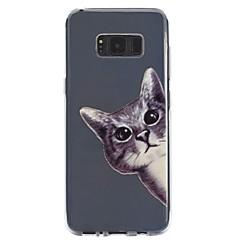 olcso Galaxy S6 tokok-Case Kompatibilitás Samsung Galaxy S8 Plus S8 Átlátszó Dombornyomott Minta Hátlap Cica Puha TPU mert S8 S8 Plus S7 edge S7 S6 S5