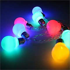 Недорогие Светодиодные ленты-Гирлянды 20 светодиоды Тёплый белый Разные цвета Простой Батарея