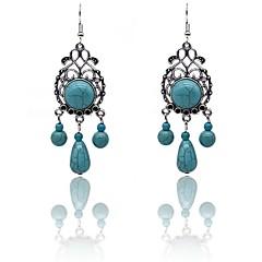 preiswerte Ohrringe-Damen Türkis Geometrisch Tropfen-Ohrringe - Türkis Retro, Elegant Silber Für Alltag / Festtage