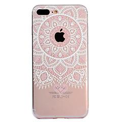 Недорогие Кейсы для iPhone 5-Кейс для Назначение Apple iPhone X iPhone 8 Plus Прозрачный С узором Кейс на заднюю панель Мандала Мягкий ТПУ для iPhone X iPhone 8 Pluss