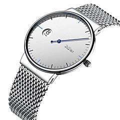 billige Rustfrit stål-Herre Dame Modeur Armbåndsur Japansk Quartz Kalender Afslappet Ur Rustfrit stål Bånd Afslappet Elegant Sort Sølv