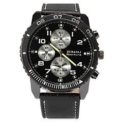 お買い得  大特価腕時計-JUBAOLI 男性用 クォーツ リストウォッチ 中国 大きめ文字盤 合金 レザー バンド チャーム ユニーククリエイティブウォッチ ブラック 白 ブルー レッド