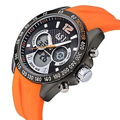 お買い得  メンズ腕時計-ASJ 男性用 デジタルウォッチ 日本産 耐水 ラバー バンド ブラック / ブルー / オレンジ / ステンレス