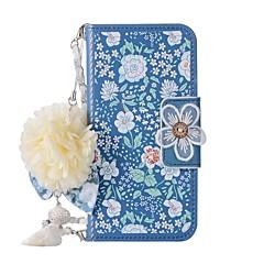 Недорогие Кейсы для iPhone 6-Кейс для Назначение Apple iPhone X iPhone 8 Бумажник для карт Кошелек со стендом Флип Магнитный С узором Своими руками Чехол Цветы Твердый