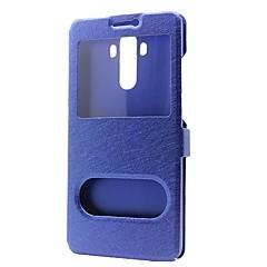 Недорогие Чехлы и кейсы для Huawei Mate-Кейс для Назначение Huawei Mate S Huawei Huawei Mate 8 Huawei Mate 7 Mate 9 Mate 10 Кошелек со стендом с окошком Флип Чехол Сплошной цвет